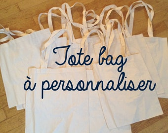 Tote-bag to customize / / custom / / hand embroidery / / gift wedding / / gift evjf / / original and unique gift / / customization