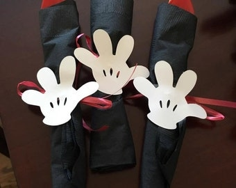 Mickey Mouse Hands, Mickey Silverware, Hands for Mickey, Cardstock hands, Mickey Birthday