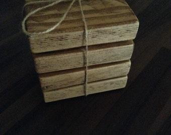 Handmade rustic coasters *reclaimed wood*