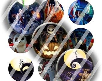 Digital Bottle Cap Collage Sheet - Halloween 9 - 1 Inch Circles Digital Images for Bottlecaps