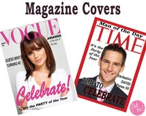 Magazine Covers Personalised Edible Image Real Icing Cake Topper Large A4 Vogue Time