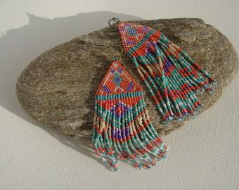 Indian style navajo, Native American earrings, Bohemia