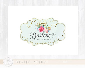 Party Logo Princess Logo Floral Logo  Events Logo Watermark Photography Logo Boutique Logo Premade Logo