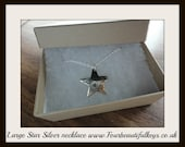 Large Silver Star Necklace. Sale price 40-14.00 GBP