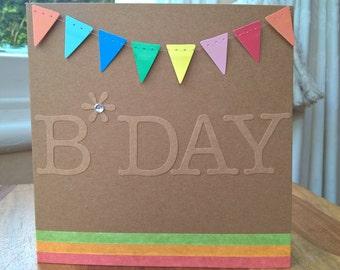 Neon B*day card