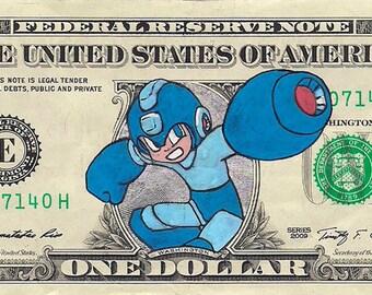 Mega Man! - Dollar Bill Art