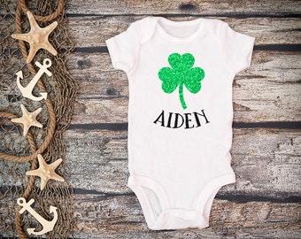 Baby St. Patrick's Day Shirt;Glitter Shamrock Tee;St. Patrick's Day Shirt;St Patrick's Day Baby Bodysuit;Irish baby bodysuit;Glitter Tee