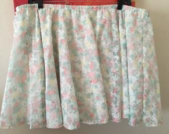 Ditsy floral plus size skirt 1x 2x 3x