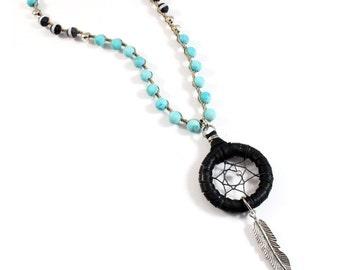 Raya Necklace (Turquoise/Black)