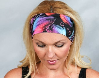 Yoga Headband Workout Headband Fashion Head Wrap Running Headband Boho Wide Headband No Slip Headband Gym Headband Turban Headband