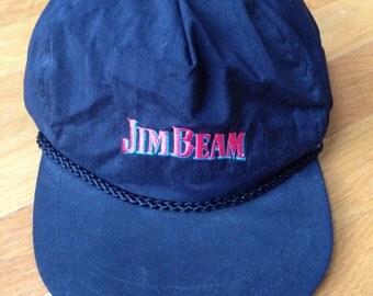 Vintage jim beam black snapback.
