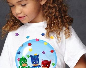 Pj Masks Shirt - -PJ Masks  Iron On Transfer - Pj Masks Birthday  Iron On Transfer- Pj Masks DIY-Pj Masks Party-Pj Masks Kids