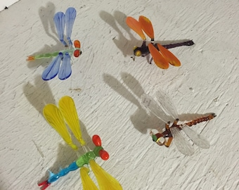 Glass blown dragonfly
