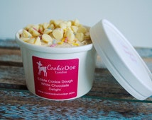 Valentines Cookie Dough Pot 8oz / Valentines Day / Edible Gift / Present / Pink / Chocolate Chip / White Chocolate / Party Favours /Wedding