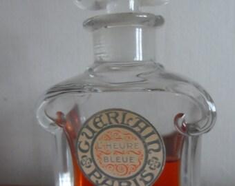 Rare large Baccarat crystal Guerlain L'Heure Bleue parfum ( 60ml )
