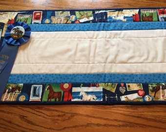 Table runner or dresser scarf for Horse lover