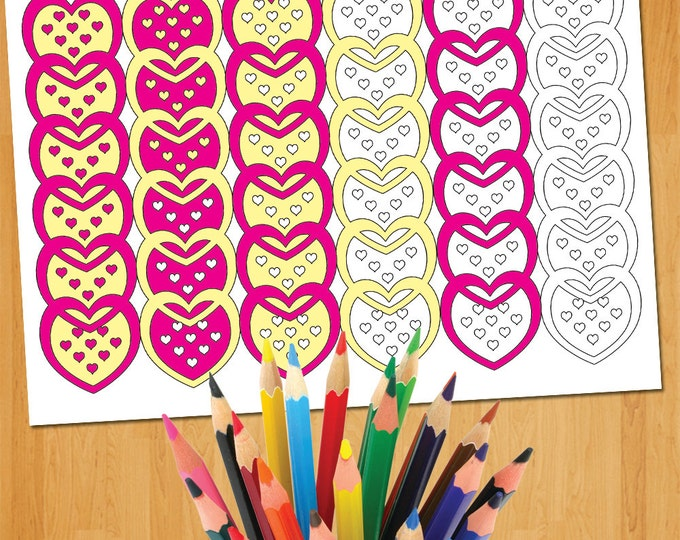 Kids Valentines Gift, Valentine Coloring, Valentines Printable For Kids, Easy Coloring Sheet