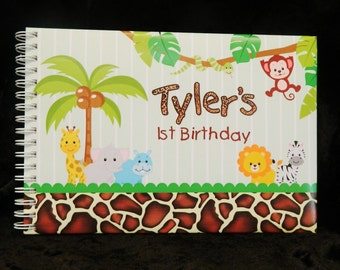 "Personalised Guest Book - ""Jungle ""Theme"