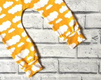 Yellow Cloud Handmade Leggings – Made to Order 0 Months - 4 Years