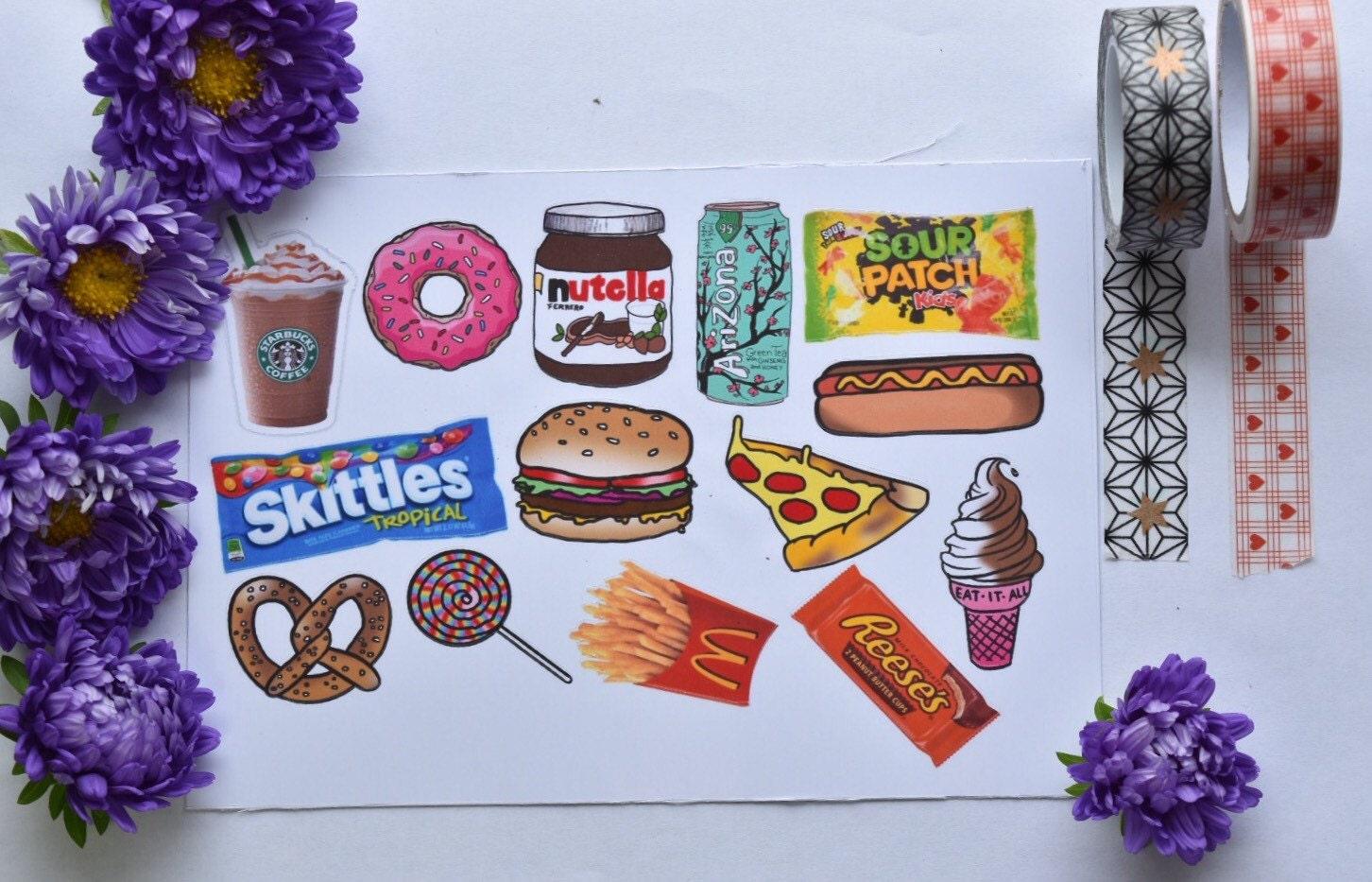 14 Foodie Tumblr Aufkleber / Sticker Essen / Laptop