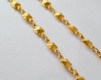 """18K Gold Filled Chain 17"""" Inch Square CG94"""