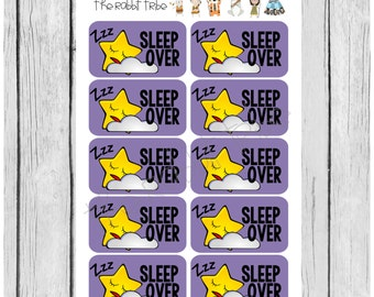 Mini Sticker sheet - sleepover - planner stickers