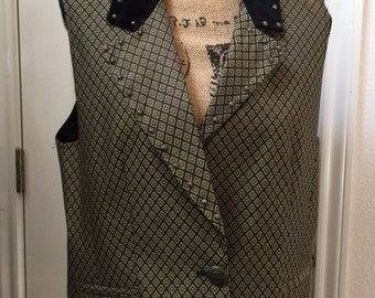 Ladies Size L black and gold vest