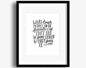 C.S. Lewis Friends | Typography Print | 8x10