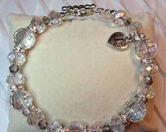 Crystal Clear Bracelet / free shipping
