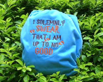 "Harry Potter inspired ""I solemnly Swear That I am up to no Good"" AIO All-In-One One Size Cloth Diaper"