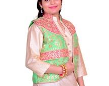 Indian Traditional Party Wear Designer Gota Patti Women Koti Jackets