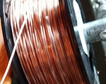 COPPER Wire SQUARE 99.9% Pure 5 10 20 40 Feet Gauges 10 12 14 16 18 20 22 24 Dead Soft Coil Bare USA Made