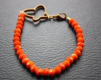 Bracelet, Butterfly, Hand Made, Women, Modern, Stylish, Orange