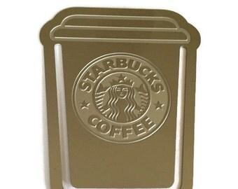 Starbucks Bookmark, Coffee Paper Clip, Clip in coffee, cup of coffee bookmark, Silver clip in, silver coffee bookmark, Planner Accessories