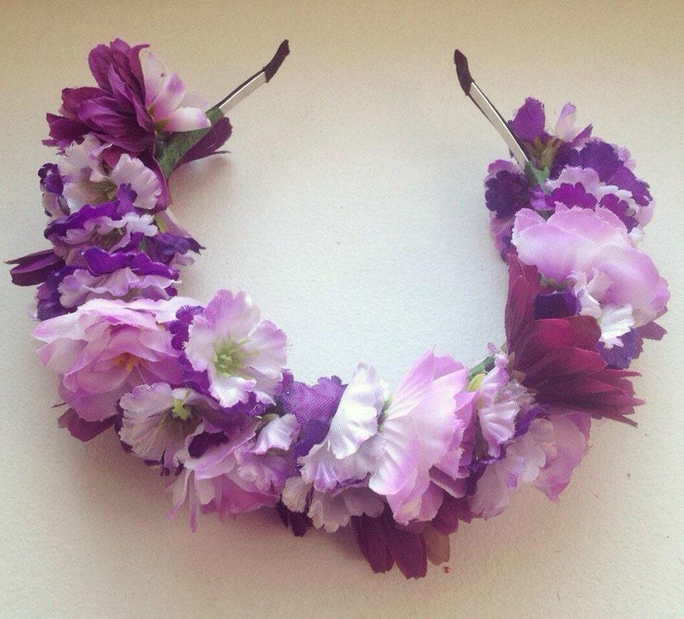 Flower Crown Purple: SALEFrida Flower Crown-Purple HairbandPurple CrownFrida
