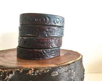 Four-Slot Leather Cuff
