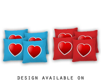 red heart cornhole bags set of 8 17 colors to choose from homemade quality - Bean Bag Toss