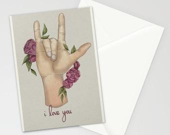 ASL I love you card