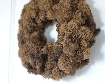 Woodland Moss Wreath - Chocolate