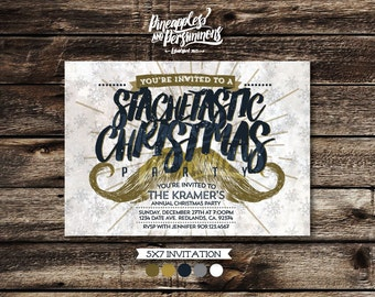 Personalized Stachetastic Christmas Party Invitation !DIGITAL DOWNLOAD!