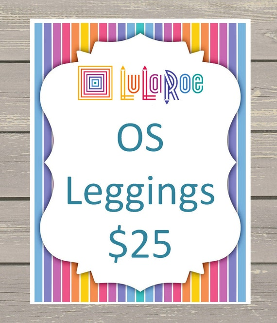 25 lularoe product name size and price display by for Lularoe name cards