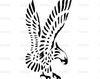 Hawk Decal - Hawk Sticker - Hawk Vinyl Decal - Animal Sticker - Bird Decal - Eagle Decal - Eagle Sticker - Hawk Wall Art - Hawk Car Decal