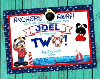 Nautical Mickey Invitation