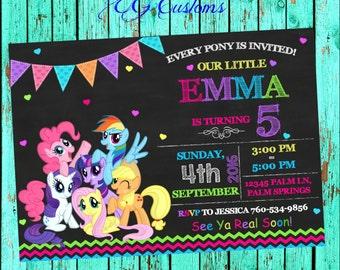 My Little Pony Invitation, My Little Pony Birthday, My Little Pony Birthday Invitations, My Little Pony Party