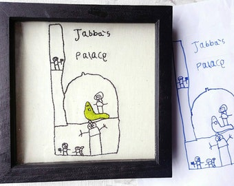 YOUR child's drawing, BESPOKE gift, PERSONALIZED gift, hand embroidery, kids drawing, childs drawing, personalised gift, keepsake gift