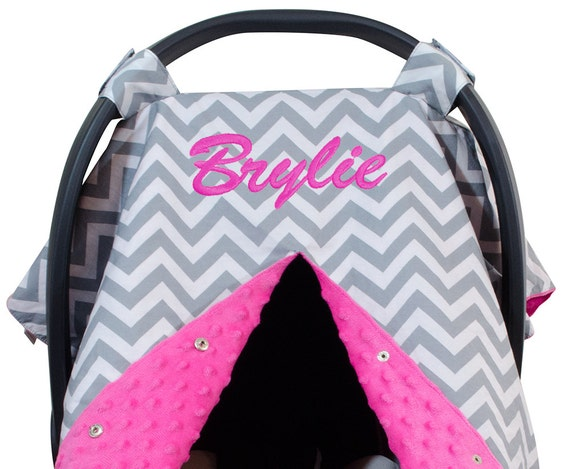 Personalized Embroidered Carseat Canopy Carseat By KidsNSuch