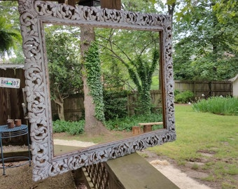 Shabby chic hand painted mirror **SOLD**