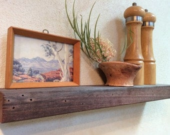 Floating Shelf Wood Rustic reclaimed wood Jarrah