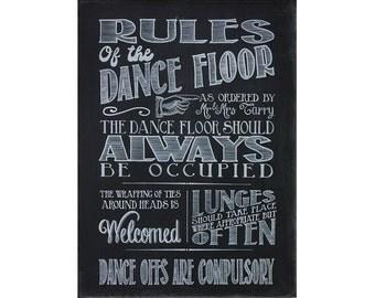 Chalkboard/blackboard wedding dance floor rules download