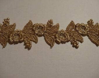 Gold Mylar Venise Lace